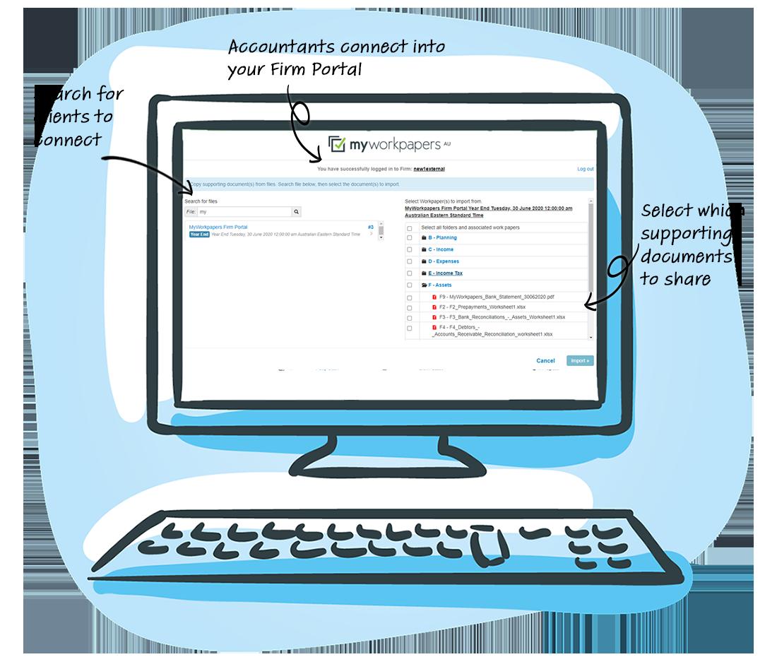 Firm Portal Second Screen