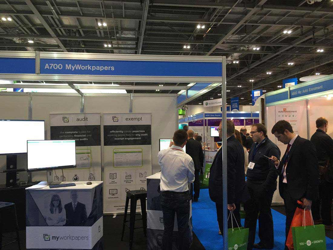 Our Awesome MyWorkpapers stand at Accountex 2016