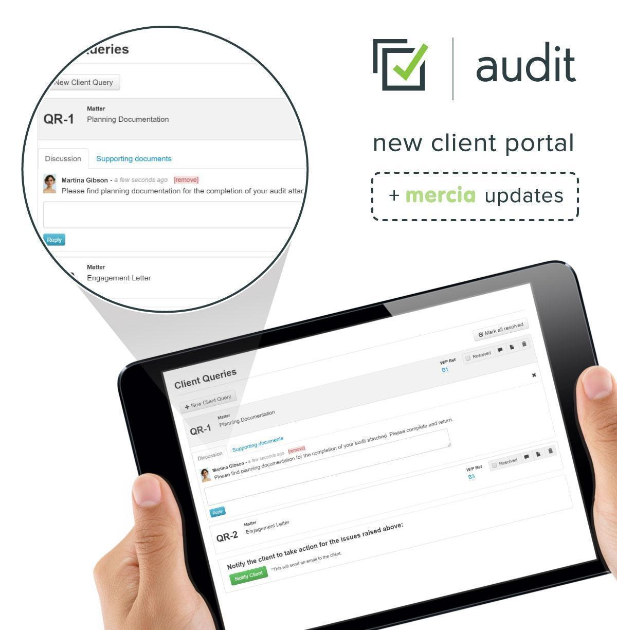 client portal uk and mercia updates