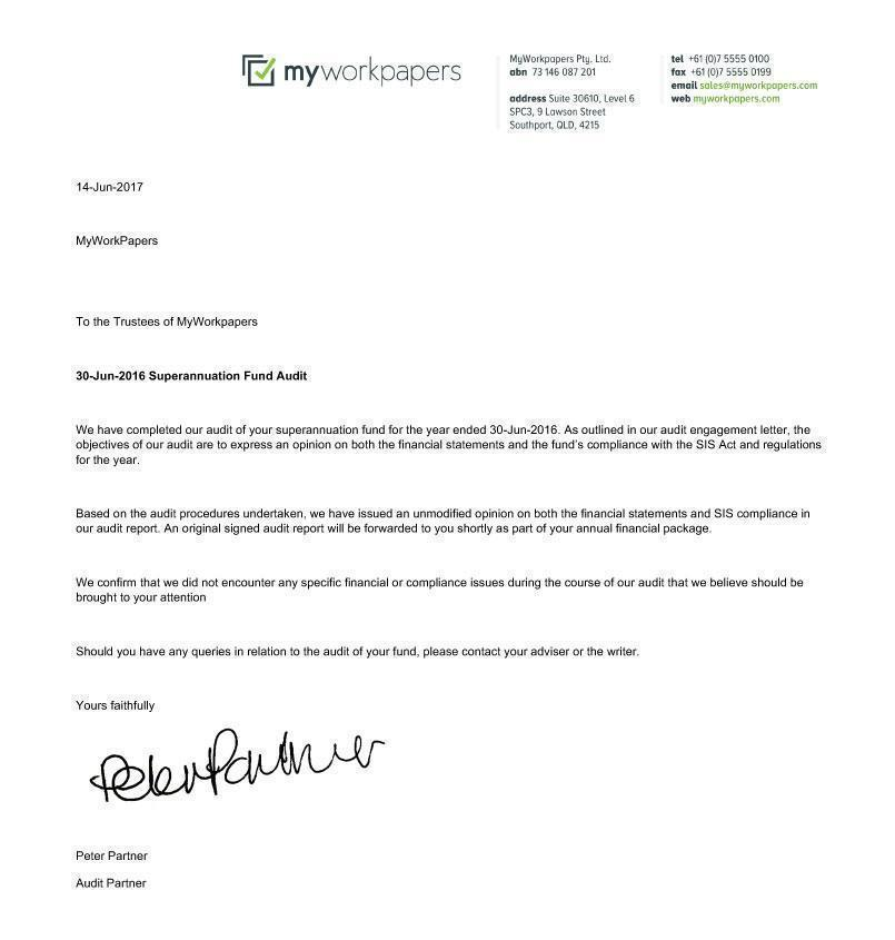 management letter example