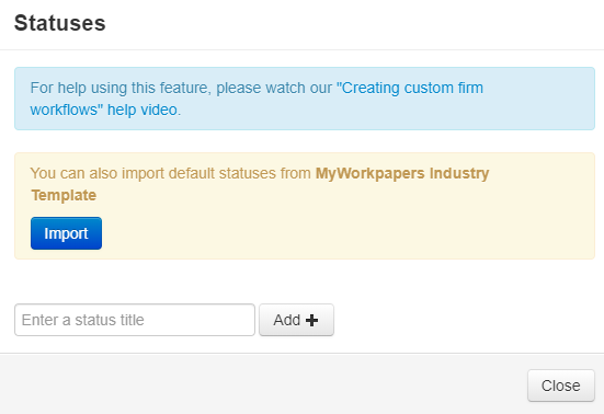 Workflow Manager customised firm workflows