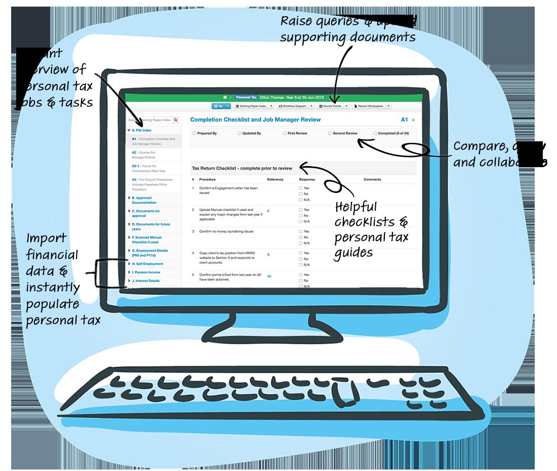 Personal Tax Generator Screen