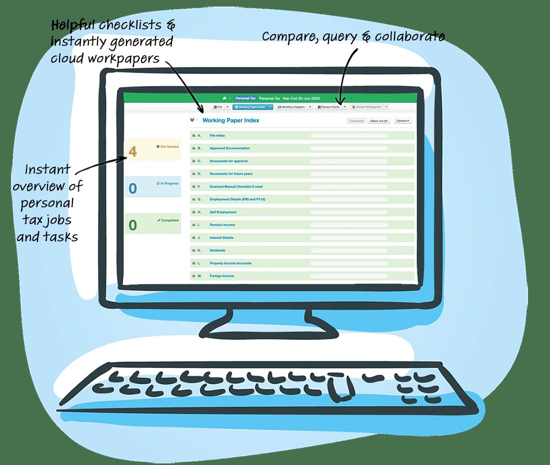 Personal Tax Templates Screen Desktop